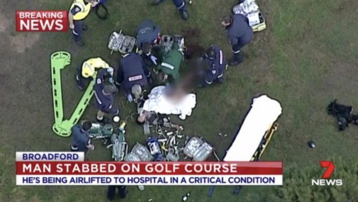 Etiquette row ends in stabbing on golf course