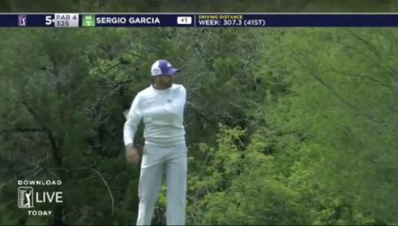 Sergio Garcia throws a fit