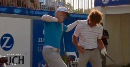 Golf stars' 1st tee anthems at Zurich Classic