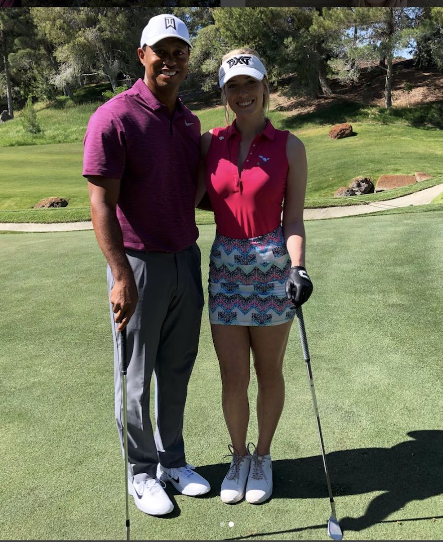 Tiger Woods makes Paige Spiranac's life complete