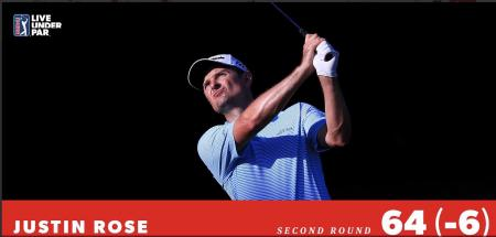 Justin Rose takes clubhouse lead at Fort Worth Invitational