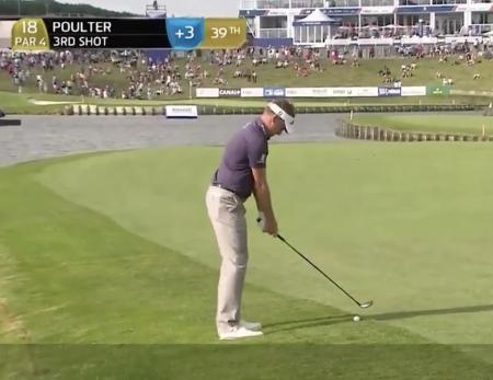Ian Poulter and his caddy conversation