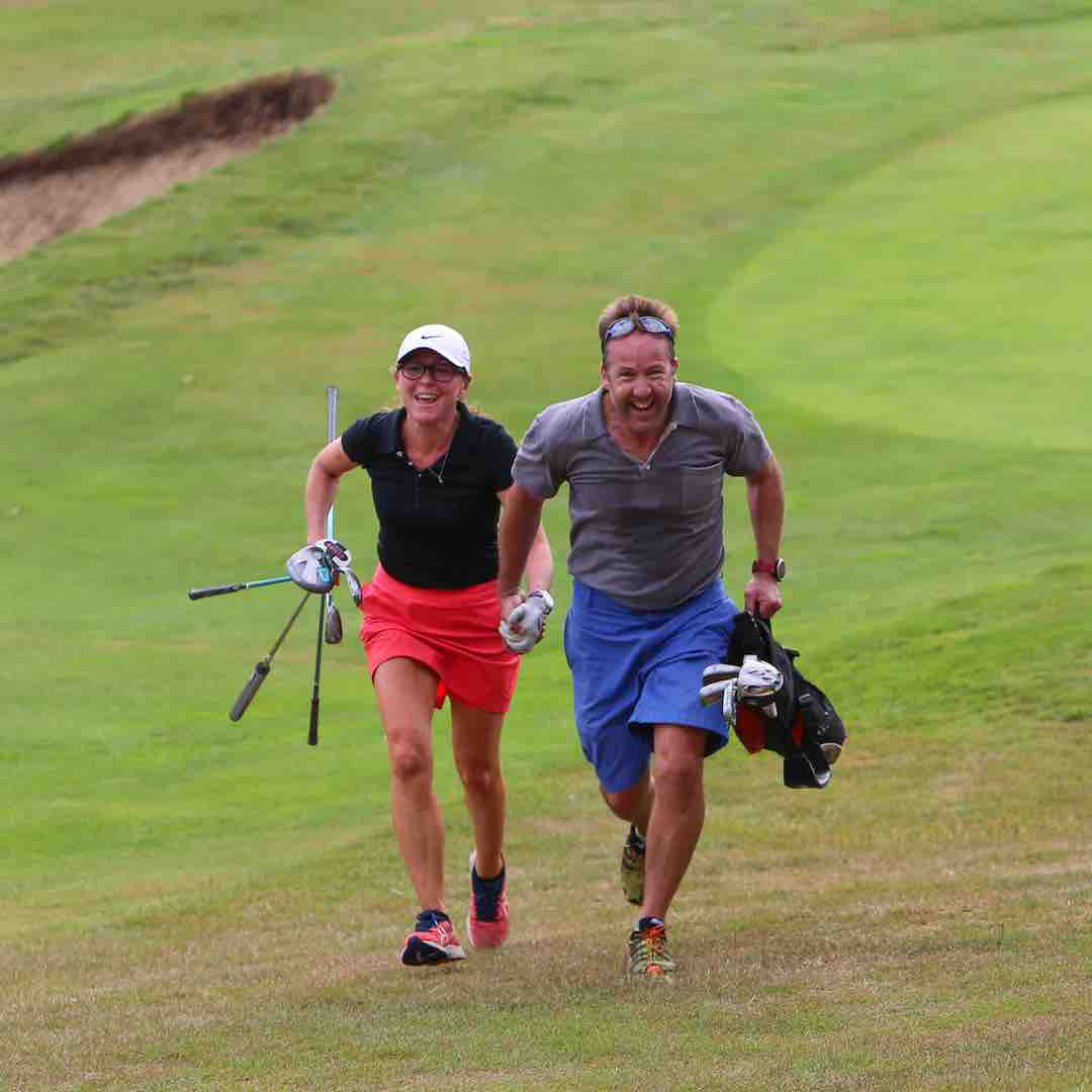 Inaugural Speedgolf Pairs event takes place at West Kent Golf Club