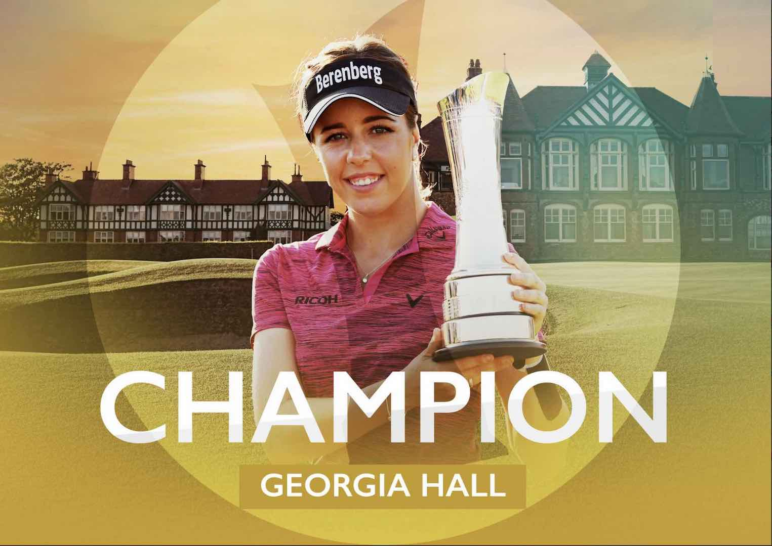 Georgia Hall wins the Ricoh British Women's Open