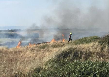 Huge fire takes out 6 holes at Burnham & Berrow GG