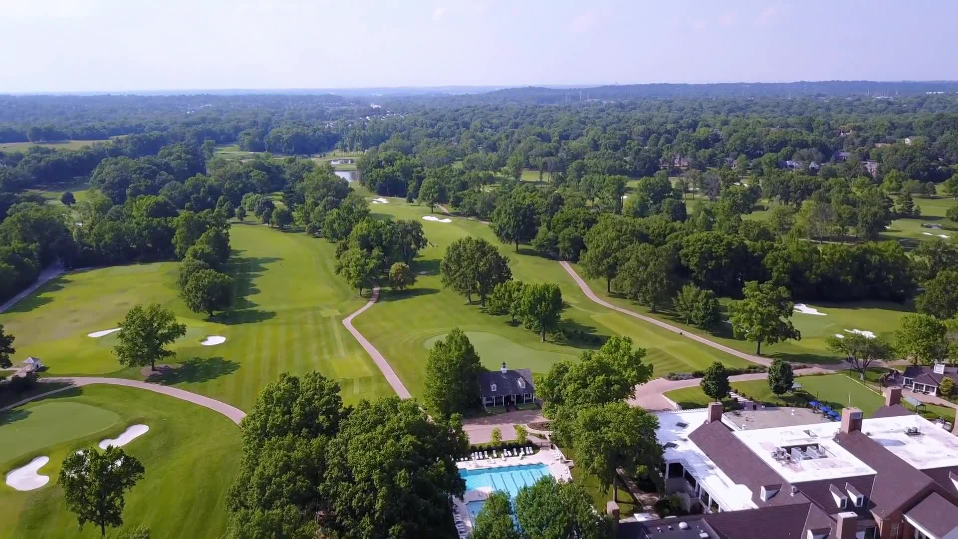 Bellerive Country Club fly over as USPGA kicks off