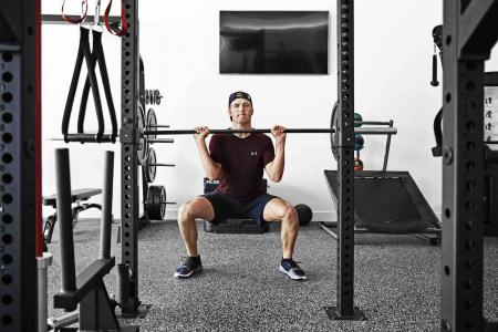 In the gym with major champion Jordan Spieth