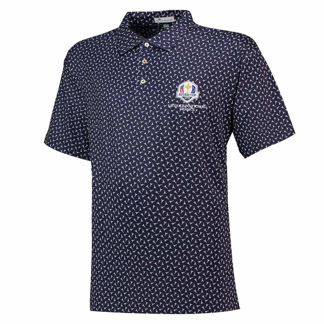 Peter Millar get into the spirit of the 2018 Ryder Cup