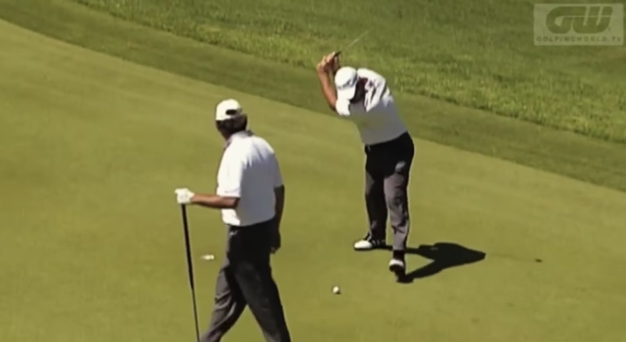 Ouch. Web.com golfer breaks putter in two