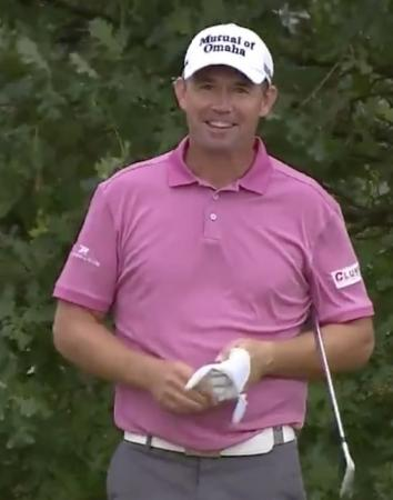 Pardraig Harrington takes share of the lead