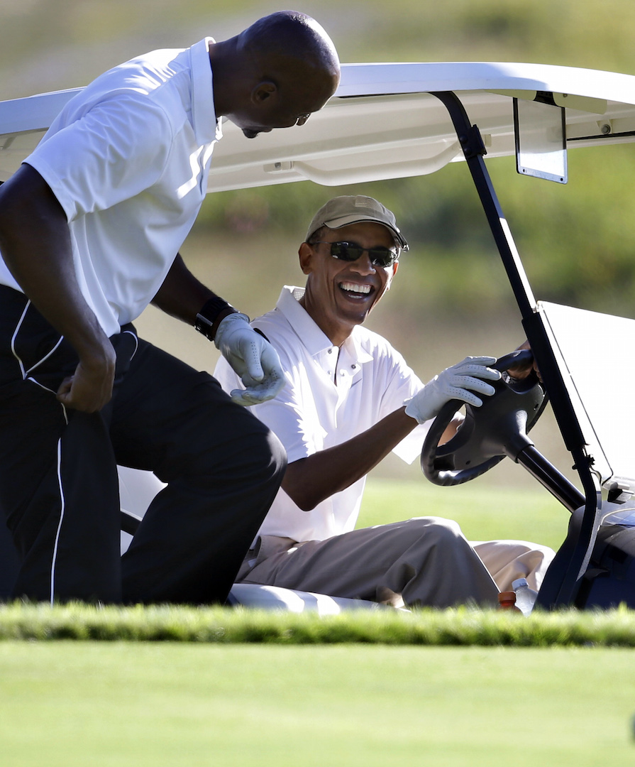 Leaders' Drives: Obama gets hustled