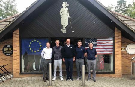 Thomas Bjorn warms up for Ryder Cup