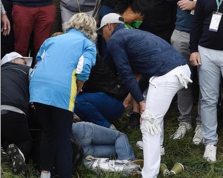 Ryder Cup spectator 'loses sight' after being hit by Koepka drive