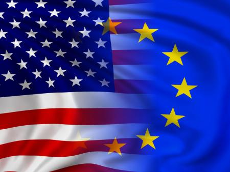 European and American flag