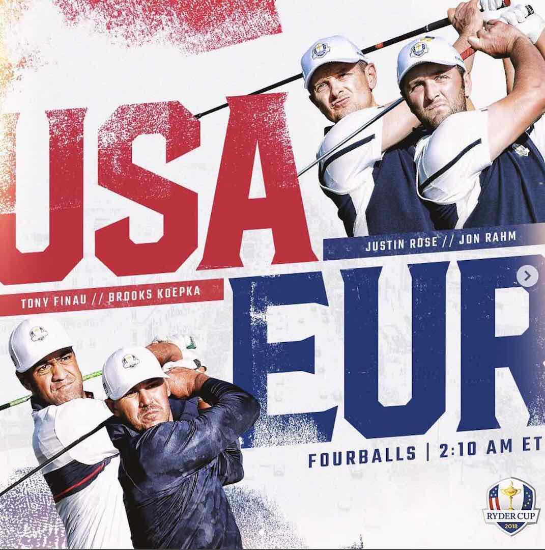 Wow! Europe rout USA in afternoon foursomes