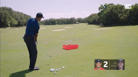 Tiger Wood takes on Phil Mickelson at Golf Pong