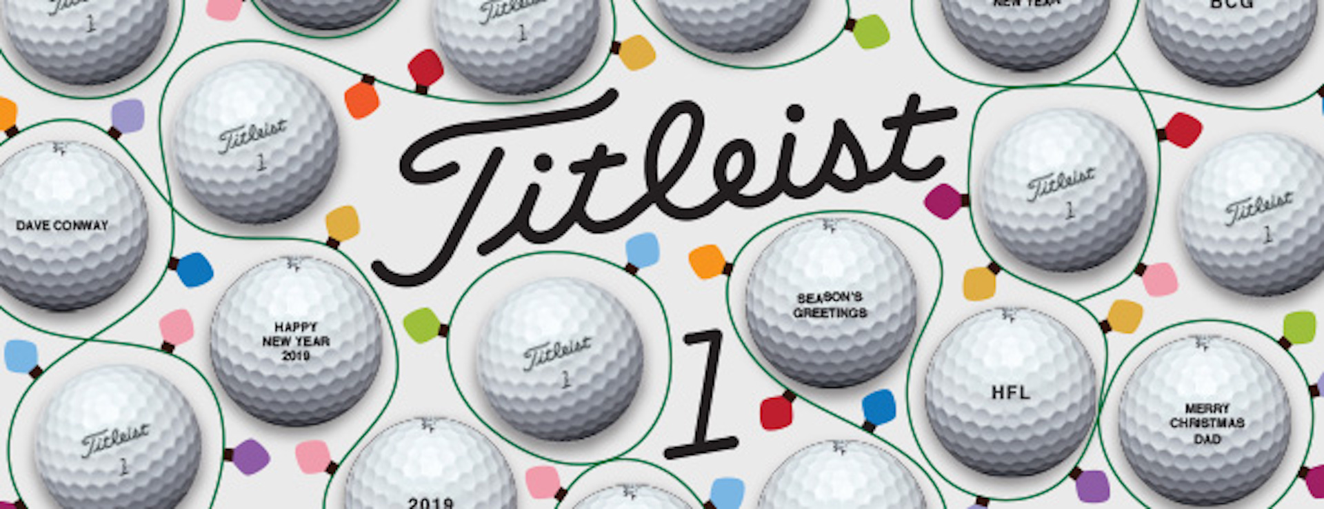 Titleist to offer festive free personalisation