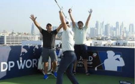 Three golfers. An iconic ocean liner. One unique challenge.
