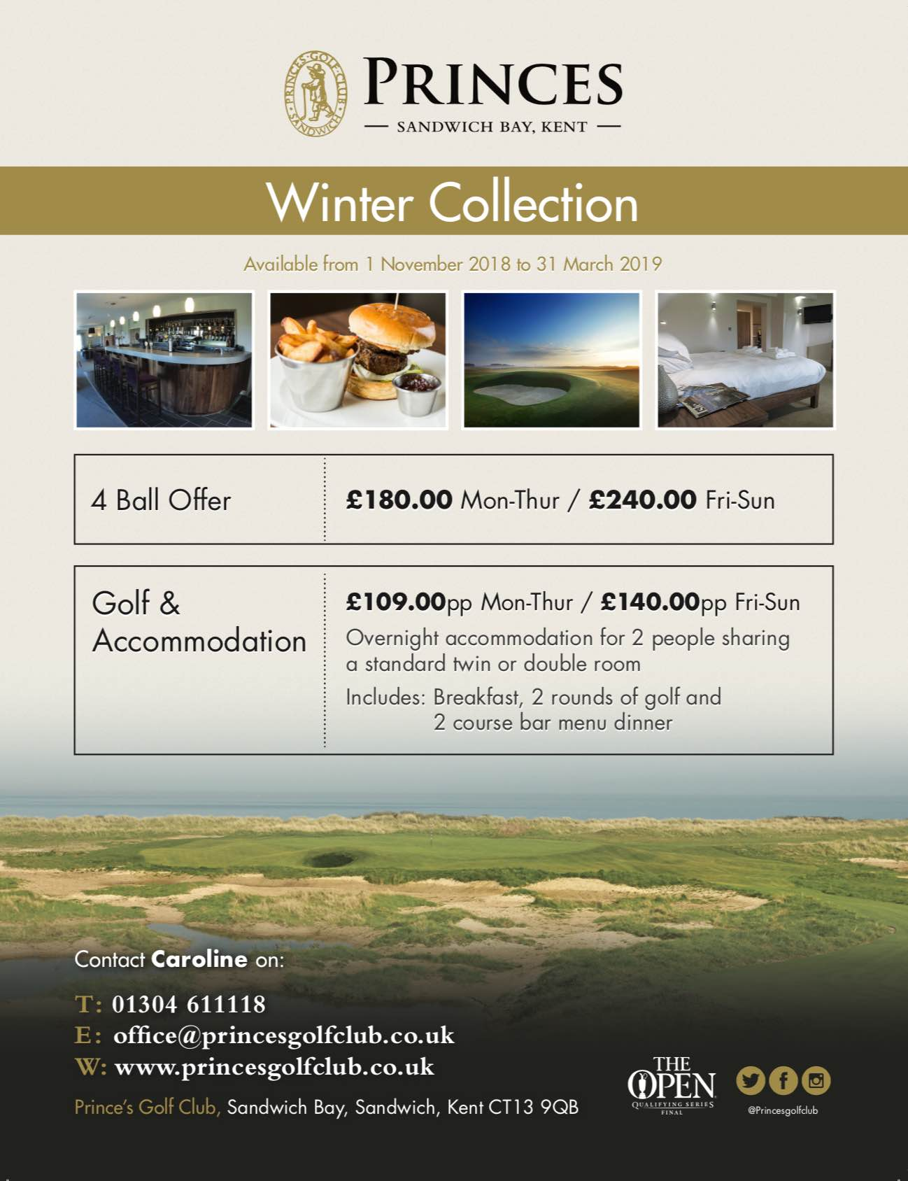 Princes Winter packages available