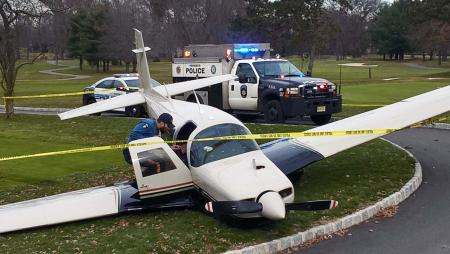 Airplane makes emergency landing on New Jersey golf course