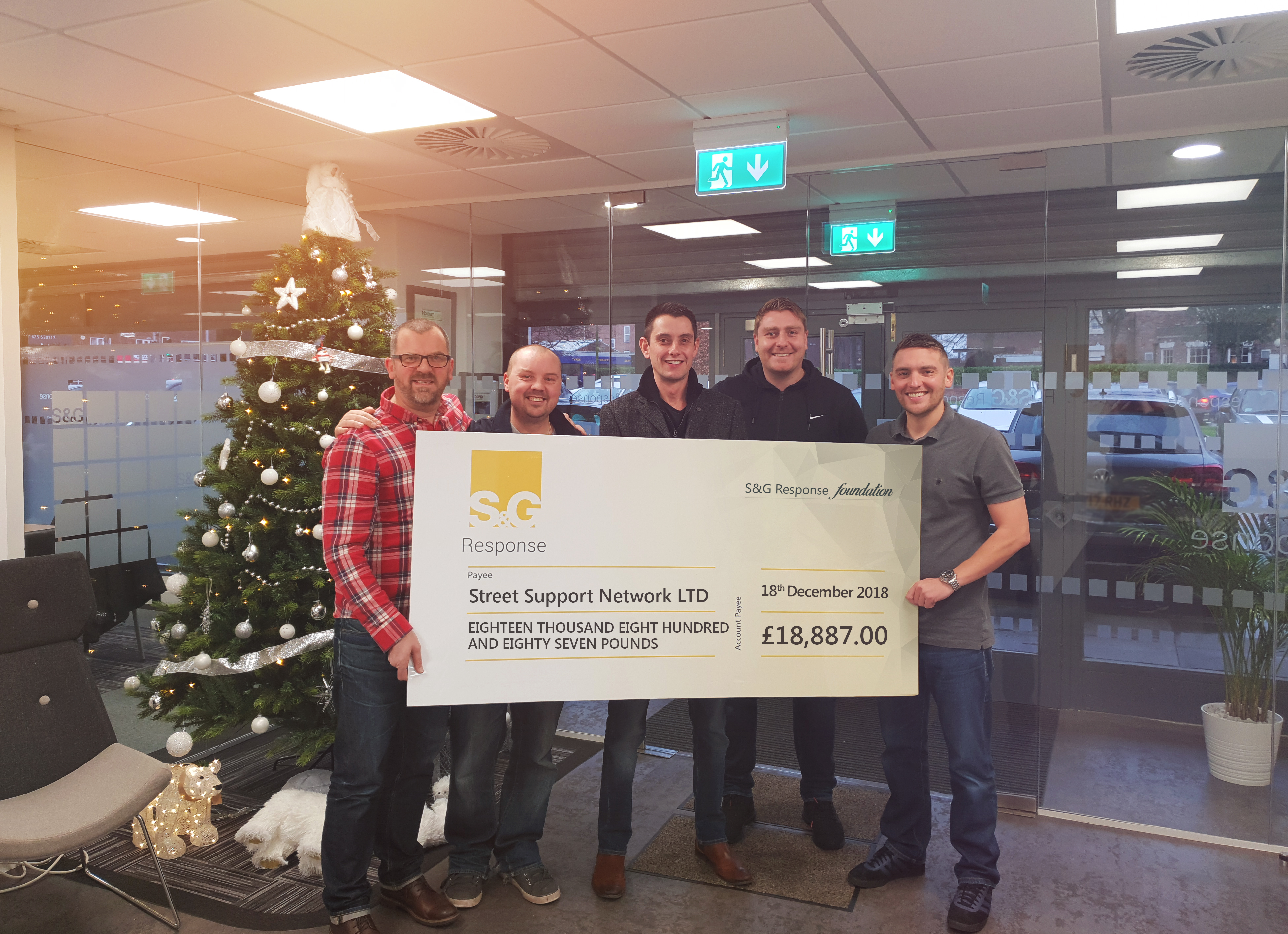 £18,887 raised for homeless charity
