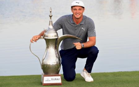 Bryson DeChambeau cruises to record victory in Dubai