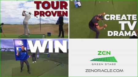 Dramatic 60-sec Zen Green Stage video