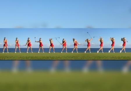 Paige Spiranac's crazy golf capering