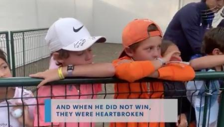 Rory McIlroy makes crying young fans' day at WGC