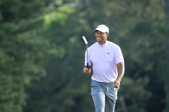 What was in Tiger Woods' bag for his winning Masters round