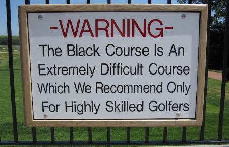 Bethpage Black Sign