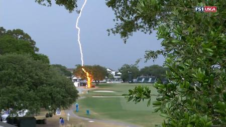 Lightning strike Women's US Open