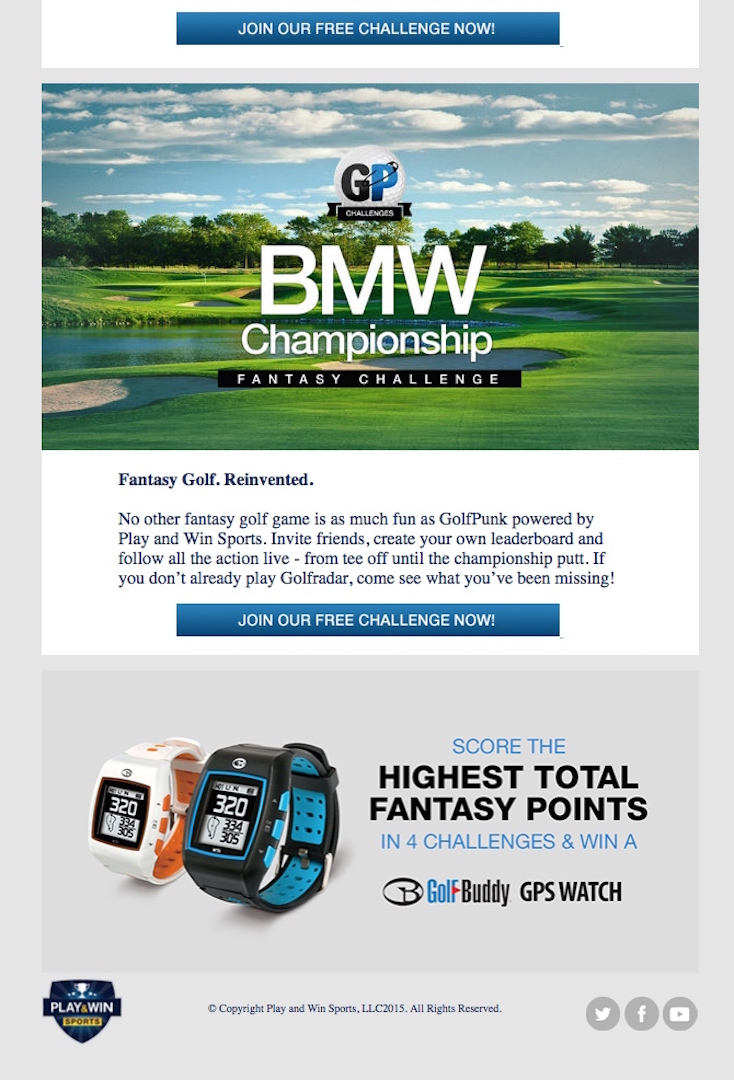 Join Now: GolfPunk's BMW Fantasy Challenge