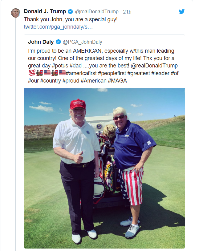 JD tees it up with Donald