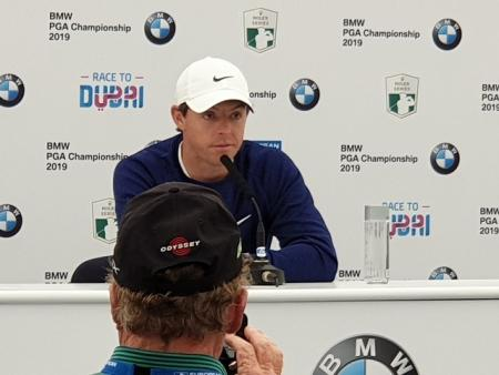 Rory McIlroy BMW PGA 2019 press