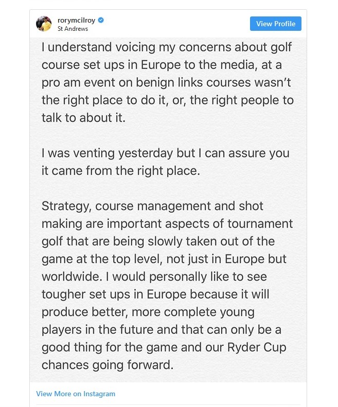 I'm with you Rory