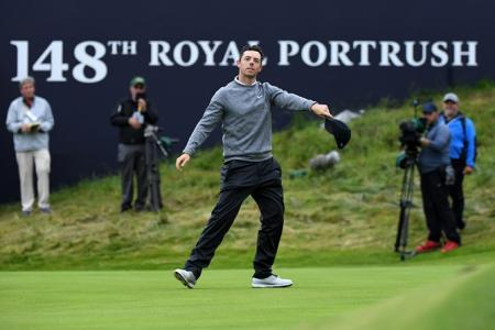 Rory McIlroy The Open dance