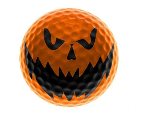 Halloween golf ball