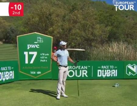Thomas Detry Nedbank Golf Challenge lucky golf shot