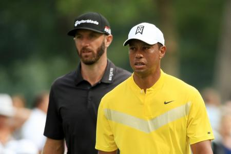 Tiger Woods Dustin Johnson