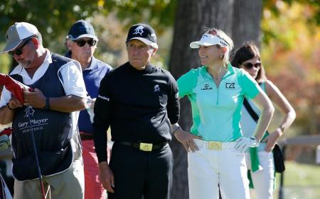 Annika Sorenstam and Gary Player
