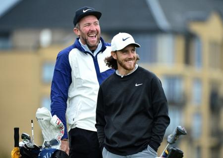 Tommy Fleetwood and Ian Finnis