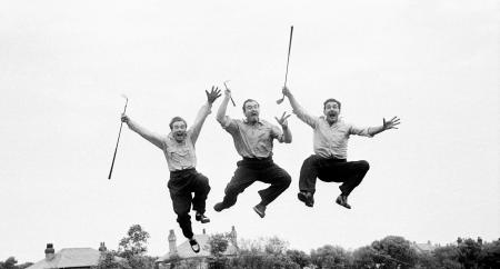 Getty jumping  golfers