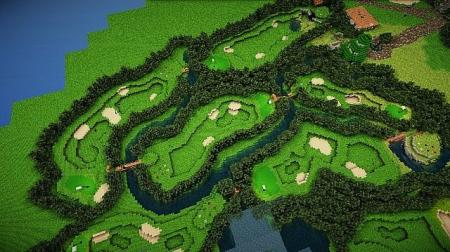Minecraft - How To Build A Golf Course Tutorial